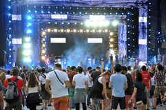 Party people at a live concert Royalty Free Stock Photo