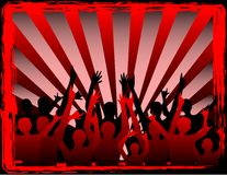 Party people in redb. Vector illustration of a party people vector illustration