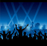 Party people silhouette Royalty Free Stock Photography