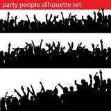 Party people silhouette set stock image