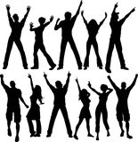 Party people silhouettes Stock Photo