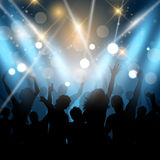 Party people on a spotlights background Stock Photos