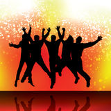 Party People Vector Background Royalty Free Stock Photography