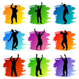 Party peoples set. Vector set of party peoples Stock Photos