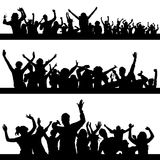 Party peoples vector. Three different group of part peoples Stock Image