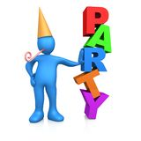 Party a pessoa Fotos de Stock Royalty Free