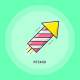 Party petard icon. Party petard thin line Illustration. Party and Celebration icon Royalty Free Stock Images