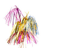 Party pickers. Party decoration with party pickers against white background Stock Photography