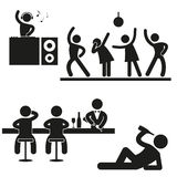Party Pictogram Stock Photography
