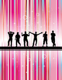 Party with pink background. Illustration of Party with pink background Royalty Free Stock Photography