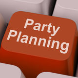 Party Planning Key Shows Celebration Organization Online Royalty Free Stock Image