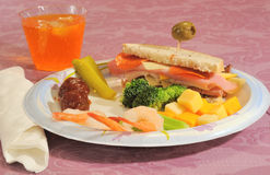 Party plate Stock Photos