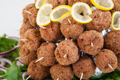 Party platter with meatballs. Food catering Stock Images