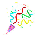 Party popper Royalty Free Stock Images