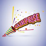 Party popper with surprise typographic design -  Royalty Free Stock Photo
