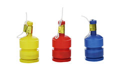 Party poppers. Party poppers isolated on white Royalty Free Stock Photo