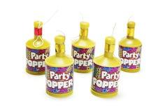 Party Poppers stockbilder