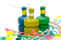 Party Poppers Stock Photos