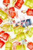party poppers arkivfoton