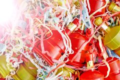 party poppers royaltyfria foton