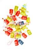 Party poppers auf Weiß stockbild