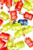 Party poppers auf Weiß lizenzfreies stockfoto
