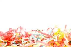 Party poppers auf Weiß lizenzfreie stockfotografie