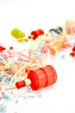 Party Poppers. A studio photo of party poppers royalty free stock photo