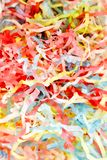 Party Poppers. A studio photo of party poppers royalty free stock images