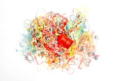 Party Poppers. A studio photo of party poppers royalty free stock photography
