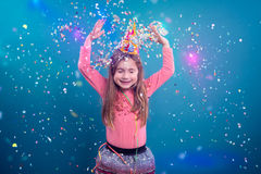 Party portrait of girl Royalty Free Stock Images