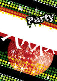 Party poster. With disco ball and dot pattern, eps10  illustration Stock Photo