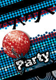 Party poster. With disco ball and dot pattern, eps10  illustration Royalty Free Stock Image