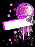 Party poster. Illustration of a mirror ball on a party background Royalty Free Stock Photos