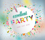 Party poster. Party poster with confetti. Vector Royalty Free Stock Photos