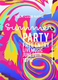 Party poster for night club vector illustration