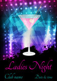 Party poster template with martini Stock Photography