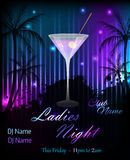Party poster template with martini Stock Photo