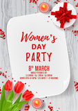 Party poster for Women`s Day Stock Image