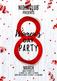 Party poster for Women`s Day Stock Photography