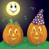 Party Pumpkins Royalty Free Stock Images
