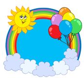 Party rainbow circle Royalty Free Stock Images