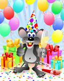 Party rat with champagne Royalty Free Stock Images