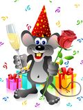 Party rat with rose and champa Stock Image