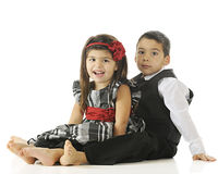 Party-Ready Young Siblings Royalty Free Stock Photography