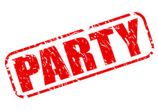 Party red stamp text Stock Photography