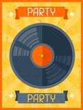 Party retro poster in flat design style Royalty Free Stock Images