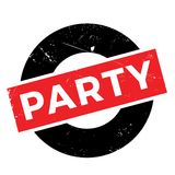 Party rubber stamp Royalty Free Stock Images