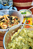 Party salads buffet Royalty Free Stock Photography