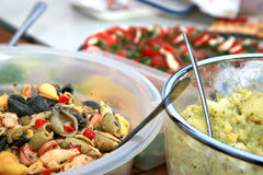 Party salads buffet Stock Photography